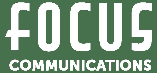 Focus Communications Logo White