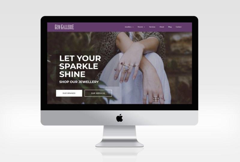 Gem Gallerie Storefront website