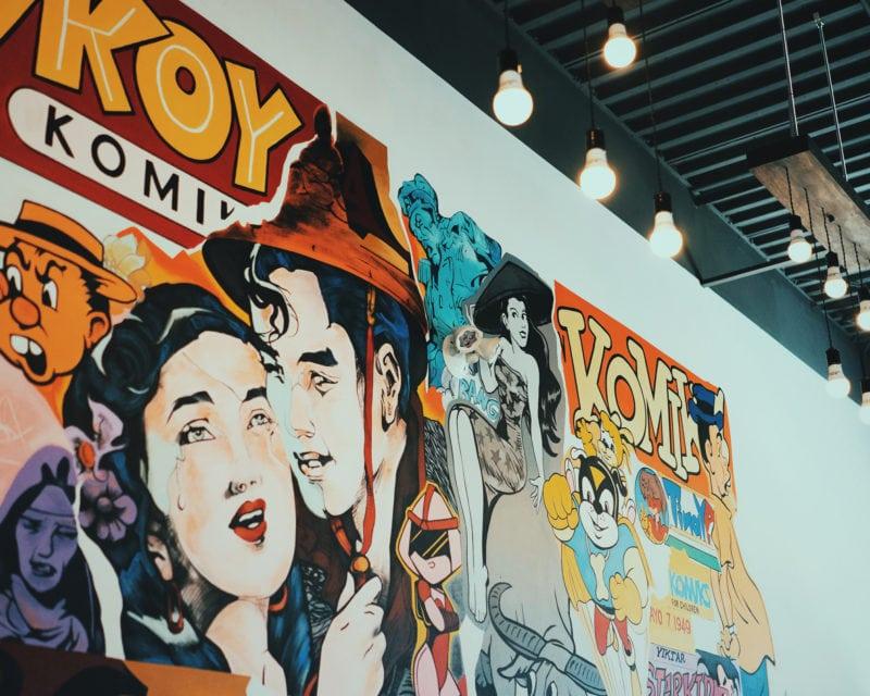 Kanto wall art comic