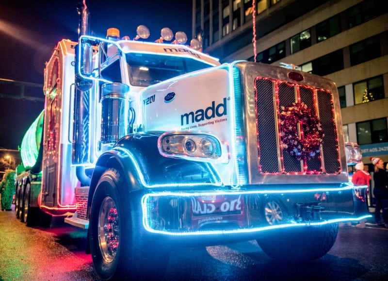 Santa's Parade of Lights semi