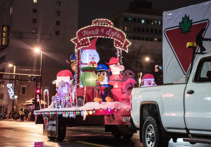 Santa's Parade of Lights Canadian Tire Float