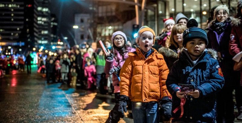 Santa's Parade of Lights kids