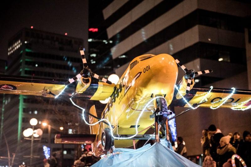 Santa's Parade of Lights Edmonton Airshow Plane