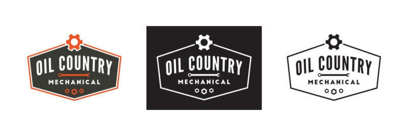 Oil Country Mechanical Logo Variations