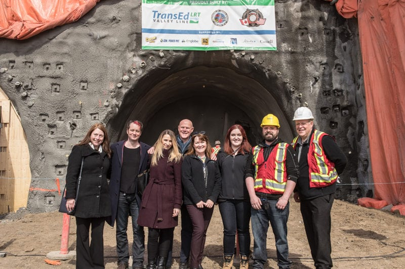 TransEd LRT Valley Line Tunnel mayor