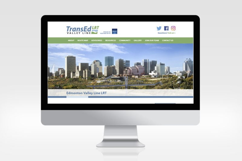 TransEd LRT Valley Line Website